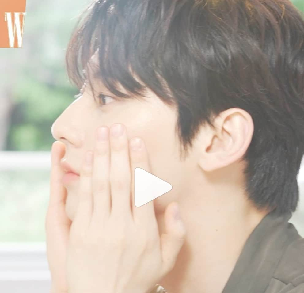 NU'EST's Minhyun smiles sweetly in beauty gravure photo shoot